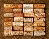 Corks of different lengths for different wines