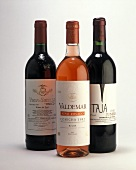 Red wines and a rose from various regions of Spain