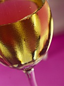 Close Up of White Wine in a Glass
