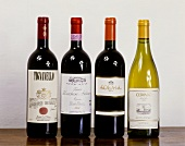 Four top wines produced by Marchese Antinori based in Florence
