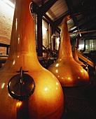 Whiskey distilling apparatus at Old Bushmills in N. Ireland
