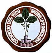 Symbol of prestigious Tuscan red wine Brunello di Montalcino