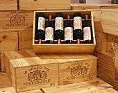 Cases of bottles of Chateau Pichon-Longueville, Bordeaux