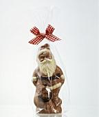 Wrapped Chocolate Santa Claus