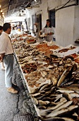 Large fish stall in Italy