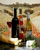 Still Life of Wine In Front of a Painting