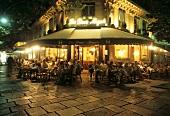 """Street café """"Les Deux Magots"""", Paris, France"""