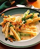 Asparagus casserole with red lentils & spring vegetables