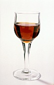 A glass of sherry; Oloroso