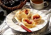 Damson dumplings