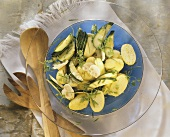 Potato and courgette salad