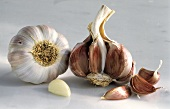 Garlic Bulb Whole and Half; Garlic Cloves
