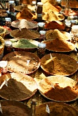 Market stall in Provence with spices in bowls