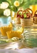 Easter brunch: marzipan baskets & lemon mousse
