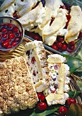 Souffle omelettes with cherries & cassata gateau with cherries