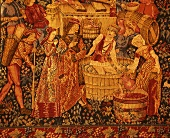 Historic tapestry, Hedges Winery, Yakima Valley, USA