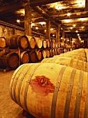 French oak barrels at Suntory's Winery, Kofu, Japan
