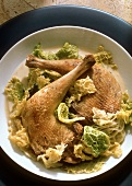Pheasant legs & savoy cabbage