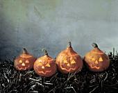 Four Jack O'lanterns