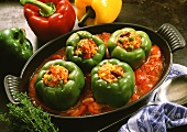 Peppers with rice and vegetable stuffing