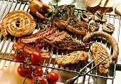 Assorted Grilled Steak and Chicken; Bratwurst and Bacon