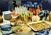 Party Buffet with Appetizers and Cocktails