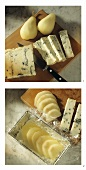 Making cheese and pear terrine