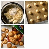 Making praline biscuits