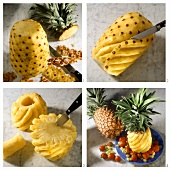 Preparing Creole pineapple