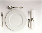 A Single Place Setting; One Spoon