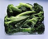 Frozen Broccoli on Ice