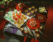 Several Assorted Appetizers and Cocktails For a Party