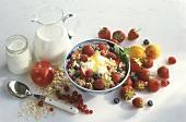 Muesli with Cream and Fresh Fruit