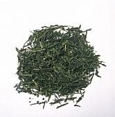 Sencha-Teeblätter (japanischer grüner Tee)