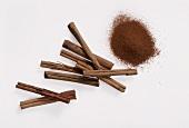 Cinnamon powder and sticks