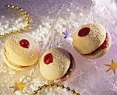 Meringue Cookies with Raspberry Jam