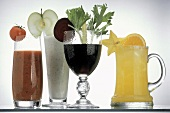 Assorted Vegetable and Fruit Juices