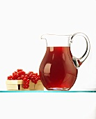Red Currant Juice in a Decanter; Currants