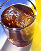 A Glass of Coke with Ice Cubes