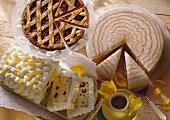 Three classic cakes: Linzer tart, Zuppa romana & punch cake