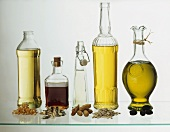 Assorted Oils with Ingredients