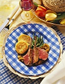 Easter Lamb Chops with Green Beans; Potatoes