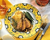 Rib Cutlets of Lamb with Potato Pancakes; Greeen Beans