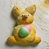 Easter Bunny Pastry with an Easter Egg