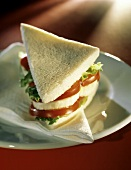 Tramezzino (triangular sandwich), Veneto, Italy