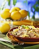 Pasta vitello tonnato (with veal, tuna and capers)