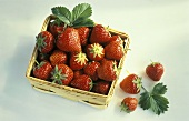 Fresh strawberries in a punnet