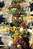 Table Setting with Fruit as Decorations