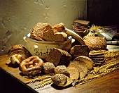 Still Life of Assorted Bread with Grains