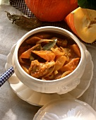 Rabbit and Pumpkin Stew in a Tureen